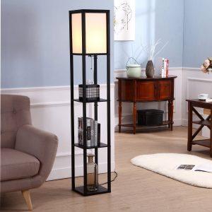 Brightech Maxwell Shelf Floor Lamp