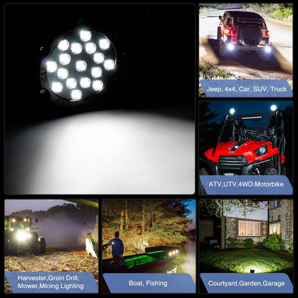 """2 Pack 7"""" Pod Lights- Bar Off-Road 51W With A Mounting Bracket"""