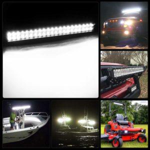 LED Nilight Light Bar 20 Inch LED 126 W Work %u2018Light Spot%u201DFlood Combi LED Bar