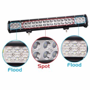 The Northpole Light 126W 20 Inch Waterproof Spot-Flood Combo With LED Light-Bar Along With 2PCS Cree Flood 18W LED Work Lights